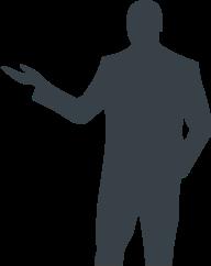 イメージ:人型の影